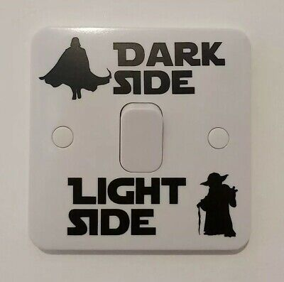 Star Wars Dark Light Side Switch Vinyl Decal Sticker Childrens Kids Bedroom UK