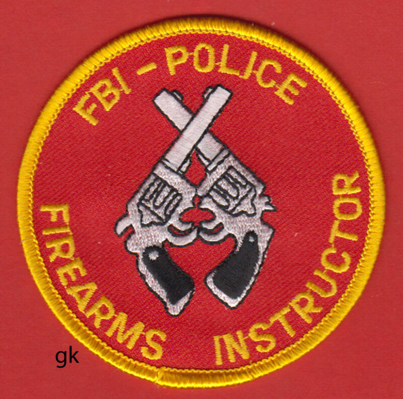 FBI-POLICE FIREARMS INSTRUCTOR SHOULDER PATCH