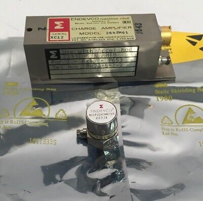 Endevco 2233e Accelerometer 2642m61 Charge Amplifier Matched Set