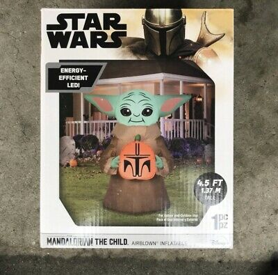 Gemmy Star Wars The Child Mandalorian 4.5' Airblown Inflatable Halloween LED New