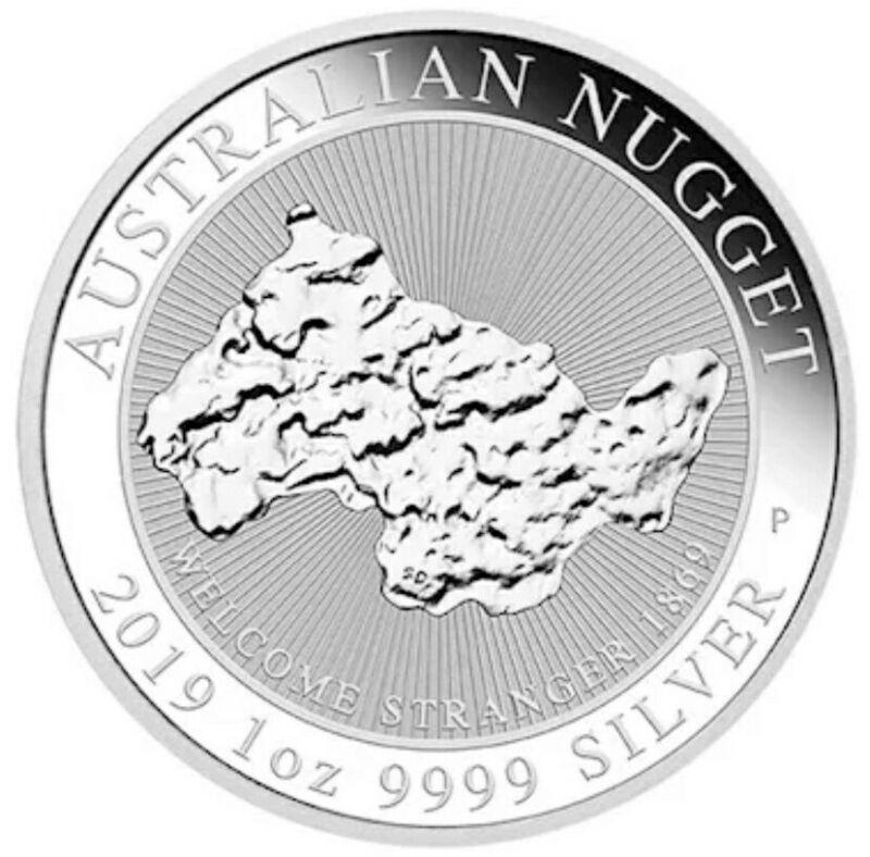 2019 1 Oz Silver $1 AUSTRALIAN NUGGET Welcome Stranger 1869 BU Coin.