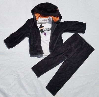 Gymboree Girls Shirt Pants Jacket Size 2T Outfit Vtg Halloween Black Cat - Halloween Witches Outfits