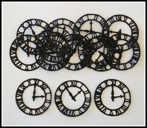 SCRAPBOOKING CLOCK FACES Cardstock Embellishments x 10