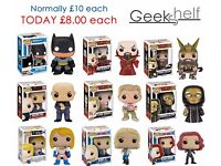 Funko POPs, ReAction Figures, Bishoujo & other collectibles