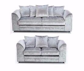 "Brand new Crushed Velvet DYLAN corner sofa in ""BLACK AND SILVER"" Color!! Order now"