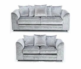 **100% GUARANTEED PRICE**BRAND NEW DYLAN CRUSH VELVET CORNER OR 3+2 SOFA