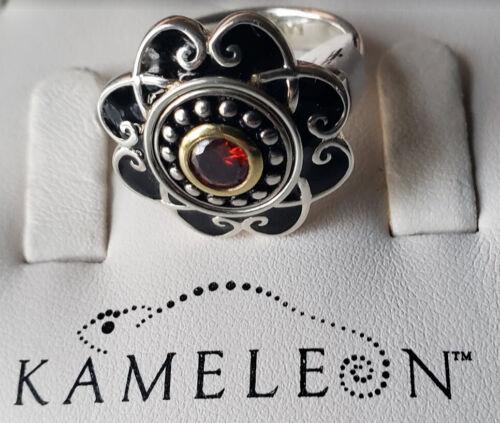 New Kameleon Sterling Silver Ring KR9B Scrolled Flower Ring  Sz 6,9