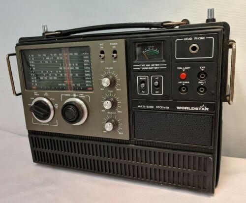 Vintage WORLDSTAR Multiband Receiver Radio Weather MG-600 Works with Microphone