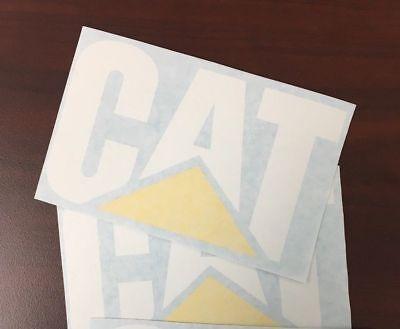 2  CATERPILLAR Quality Vinyl Decals 18''x13'' Sticker