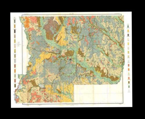 Winn Parish 1907 Soil Survey Map 33 x 42 in. FREE SHIPPING.