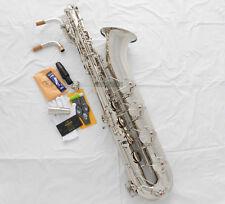 Professional Silver Taishan Baritone saxophone Low A Eb Bari Sax High F# 2 Neck