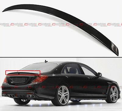 FOR 14-17 MERCEDES BENZ W222 S CLASS B STYLE CARBON FIBER TRUNK SPOILER WING