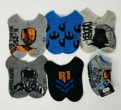 Star Wars Rogue One 5-Pair Socks  Boys M 7.5-3.5