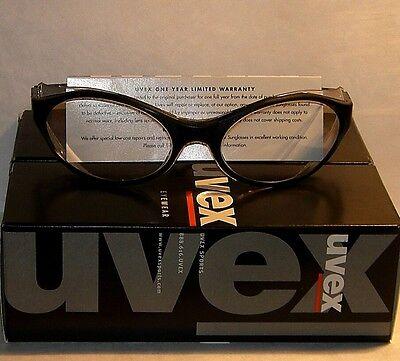Uvex Bandit Safetyshootingriding Glasses W Black Frame Clear Lens - New