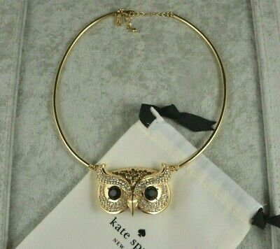 Kate Spade Into The Woods Owl Collar Necklace