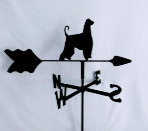Afghan Hound Garden Weathervane Black  Wrought Iron Look MADE IN USA