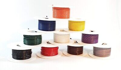 22 Awg Ul1007 Ul1569 Hook-up Wire Pick Two Colors One 50 Foot Spool Of Each New
