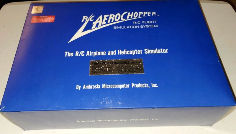 R/C Aerochopper made by Ambrosia Microcomputer Products (Rare) and NC-80 Headset