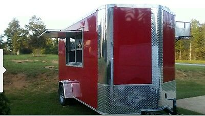 Food Concession Trailer Loaded 5 Cooking Items Large Sinks Ac Ready