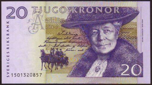 SWEDEN    20 Kronor  2001    Gem UNC