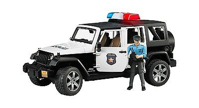 Bruder Toys Jeep Wrangler Unlimited Rubicon Police Car with Policemen 02526 NEW