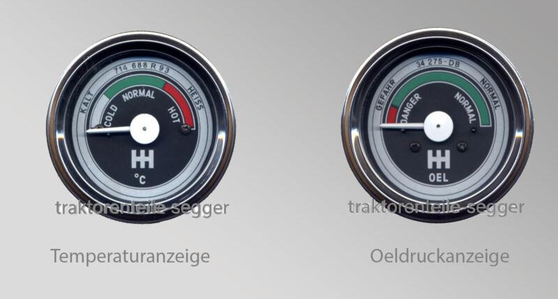 Instrumentensatz IHC Fernthermometer Öldruckmanometer Traktor Schlepper Trecker  Foto 1
