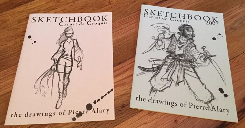 Pierre Alary Sketchbooks; Two Sketchbooks