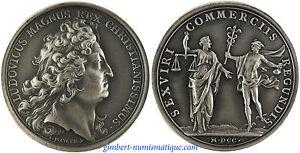 Louis xiv medaille argent chambre de commerce par mauger 1700 ebay - Chambre de commerce de versailles ...