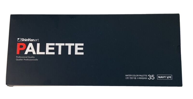 ShinHinart Palette 35 Well Watercolor Metal, Professional Quality, UK