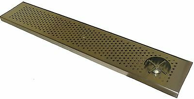 Draft Beer Rinser Drip Tray 45 X 8 W S.s. Grill 4 Metal Drain- Dtw-45ss-r