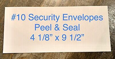 Peel Seal 10 Security Envelopes White Letter Mailing 4-18 X 9-12 50 Count