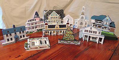 Shelia's House LOT of 9 inclu complete Old Fashioned Christmas