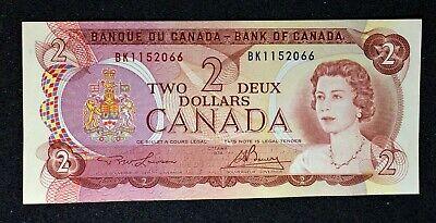 Canada 1974 $2 Lawson/Bouey Banknote in ChAu Condition.J548