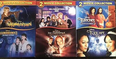 Halloween Town Movie Set (HALLOWEENTOWN 1,2,3,4 DVD COMPLETE COLLECTION SET + TWITCHES + TOO! NEW!)