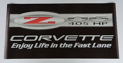 "Enjoy life in the fast lane ""2006 Chevy Corvette"" 405 hp Vet Vinyl Banner  This"