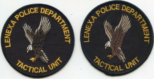 LENEXA KANSAS KS TACTICAL UNIT SWAT 2 Police Patches POLICE PATCH