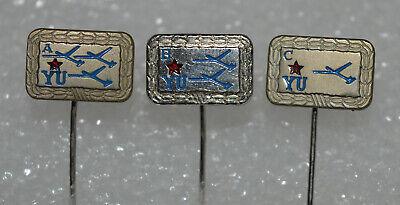 Yugoslavia Army JNA glider pilot class A B C vintage pin badge set rare segunda mano  Embacar hacia Argentina