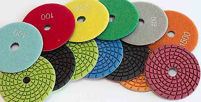 Diamond Polishing Pads 4 Inch Wetdry 5mm Thick Granite Concrete Marble Stone