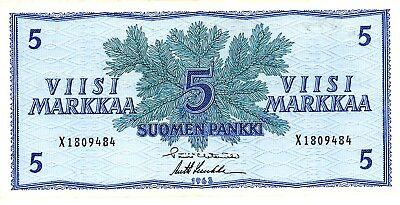 Finland ... P-99 ... 5 Markkaa ... 1963 ... *VF/XF*