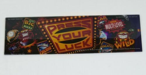 "2000 Shuffle Master Gaming Rare ""Press Your Luck"" Slot Machine Glass"