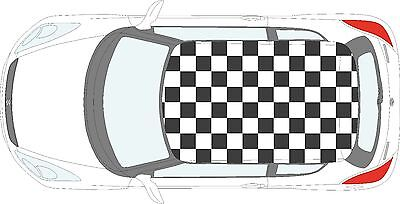 Checkered Flag (Car Checkered Flag - 57 individual square vinyl stickers decals for roof of car)