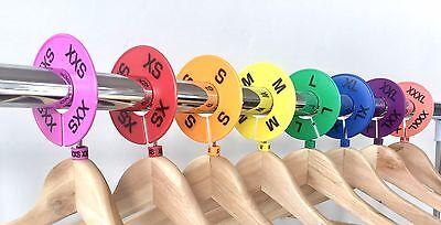 Lularoe 16 Pcs Colored Clothing Round Rack Size Dividers Xxs - Xxxl 2 Pcssize