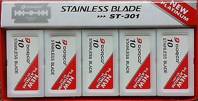 1000 Dorco ST301 Double Edge Razor Platinum Blades PRIORITY Shipping