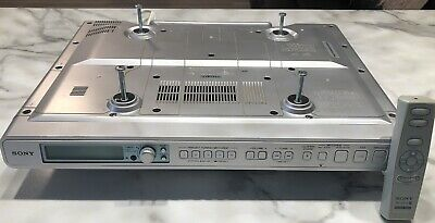 *NICE* SONY ICF-CD553RM Under Cabinet CD Clock Radio Weather/AM/FM Remote Tested