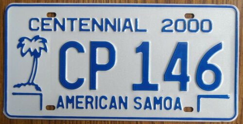 AMERICAN SAMOA Palm Tree License Plate - AS #CP-146