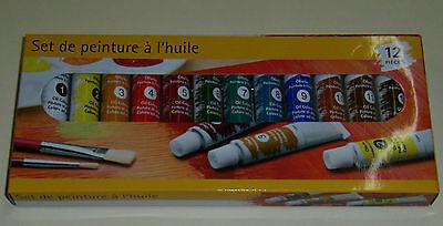 Peinture à l'huile set de la marque OWIM,12 teintes.