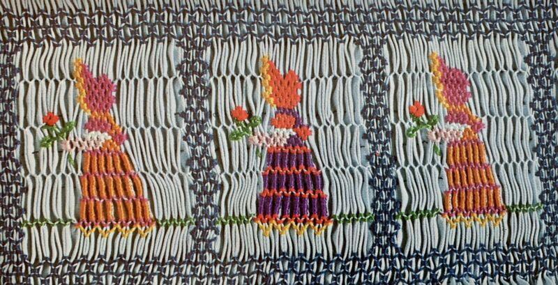 Vintage Smocking Plate Kerry By Ellen McCarn 1979 Bonnet Flower