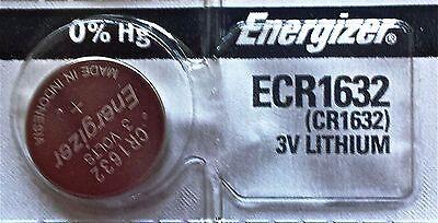 Energizer ECR1632 CR 1632 Lithium 3V Battery Braned New Authorized Seller