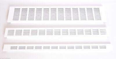 Blanco Aluminio Ventilación Reja 40mm x 300mm