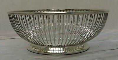 Vintage Fisher  Silverplated Metal Mesh Bread Fruit (Mesh Breading Basket)